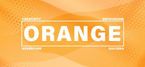 The psychology of the color orange