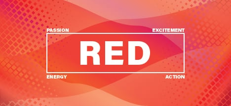 The psychology of the color red