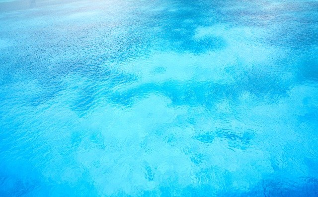 Blue is represented by water