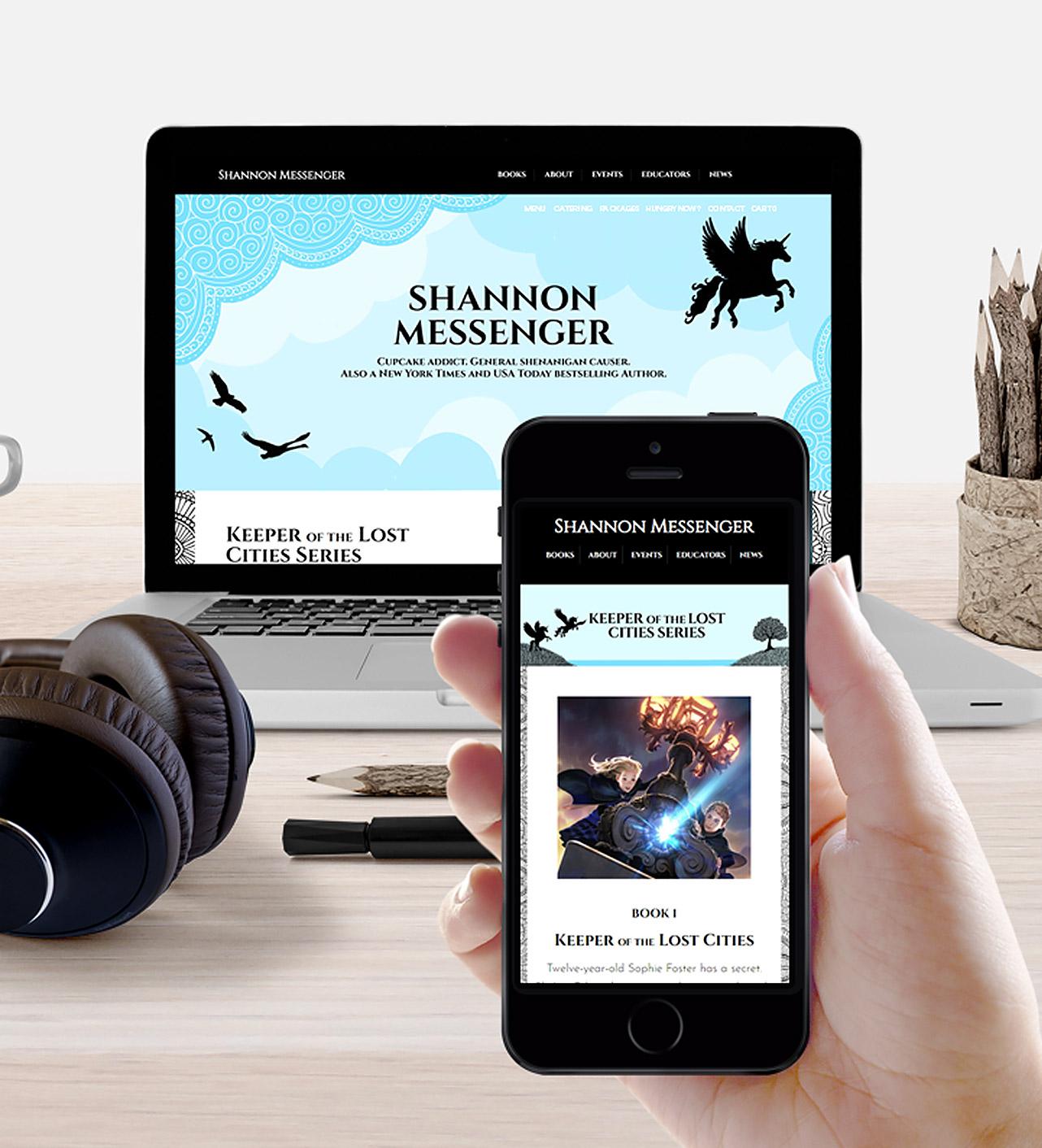 Shannon Messenger website