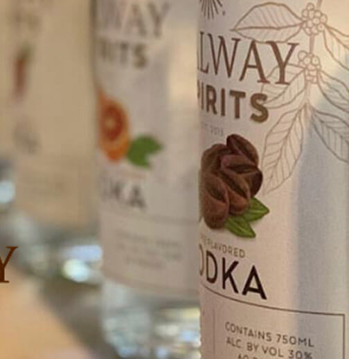 Galway Spirits product labels