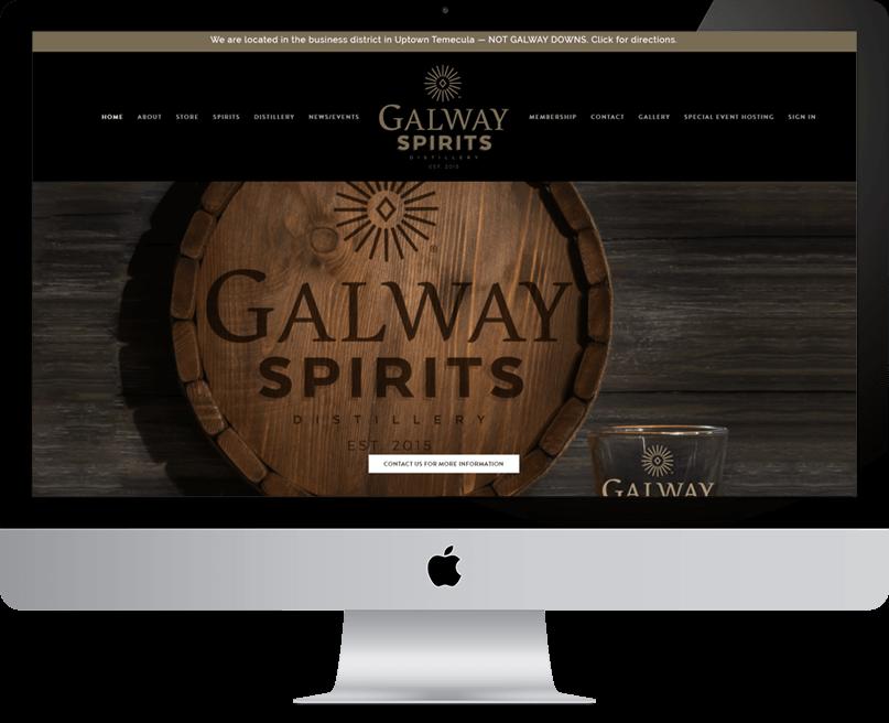 Galway Spirits website on desktop