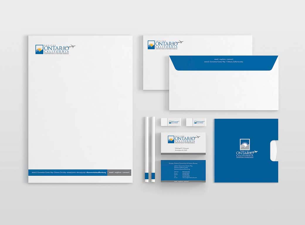 Greater Ontario Convention & Visitors Bureau stationary