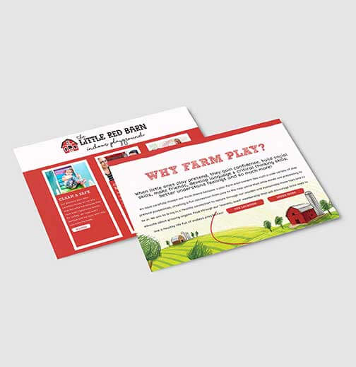 Little Red Barn post card