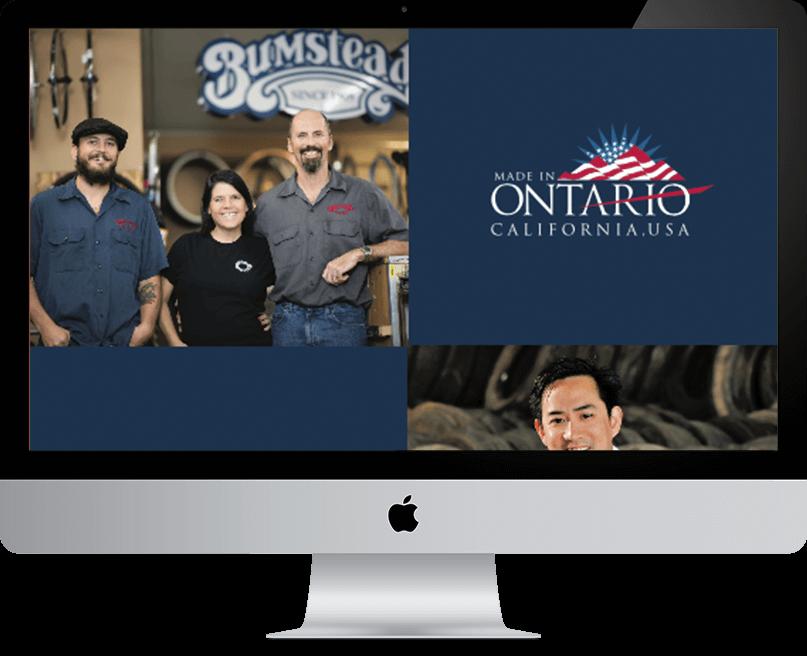City of Ontario website on desktop