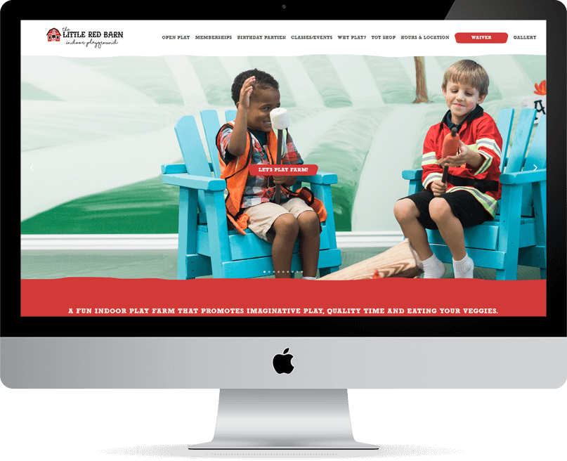 Little Red Barn website on desktop