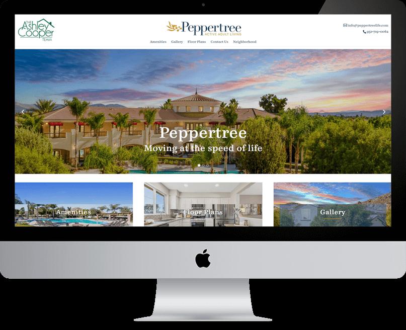 PepperTree Life website on desktop
