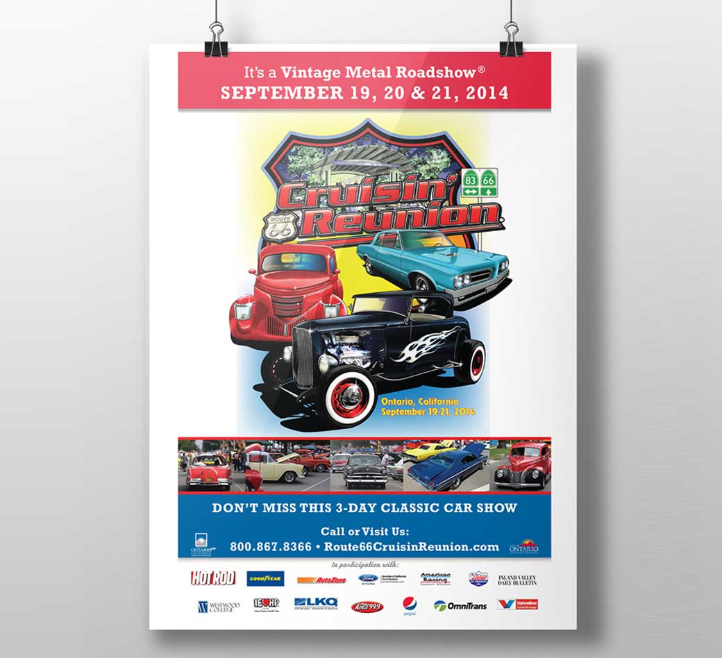 Route 66 Cruisin' Reunion Design on printables