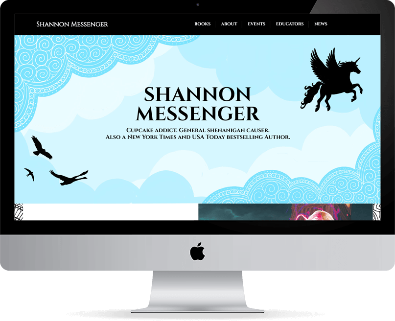 Shannon Messenger website on desktop