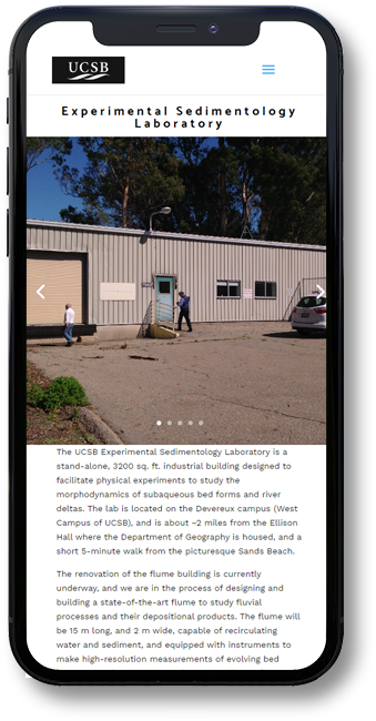 USCB website on mobile