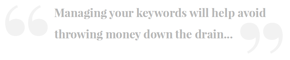 Managing your keywords