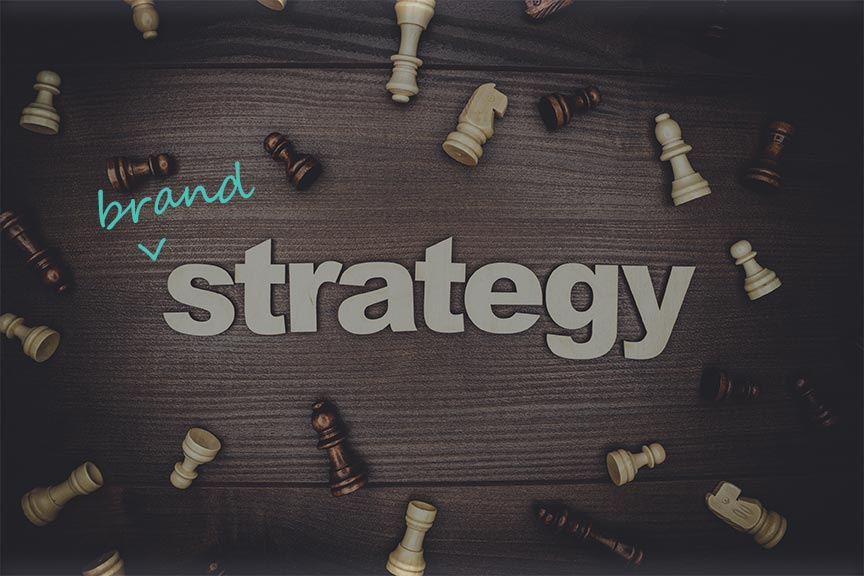 brand strategy with chess pieces