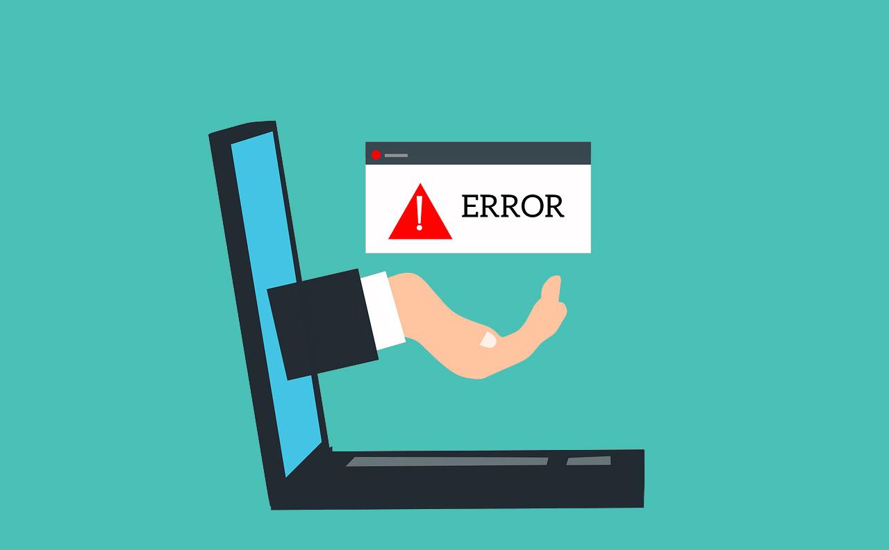 SEO errors on laptop